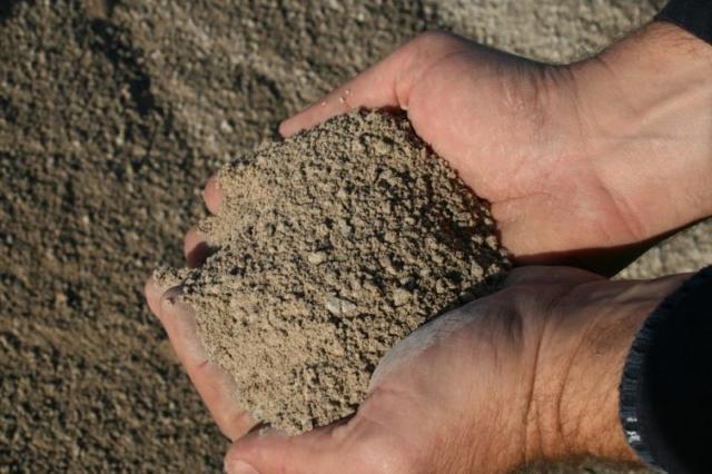 sable calcaire sec, sable, granulats