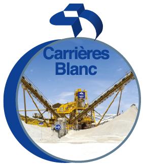 Granulats du groupe CB, Carrières Blanc, Carrières Rivat et Vincent